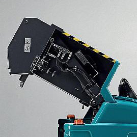 MULTI-LEVEL DUMP HOPPER XTREMA COMPLETELY HYDRAULIC RIDE-ON SWEEPER