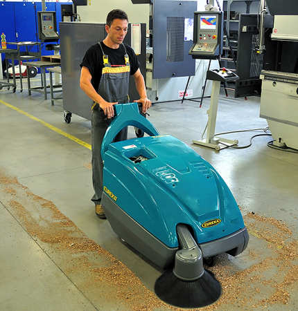 RELIABLE, ROBUST & SAFE THE KOBRA WALK-BEHIND SWEEPER